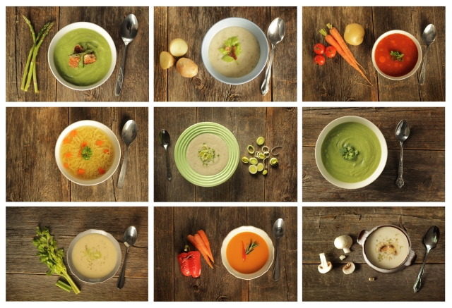 4 green soups